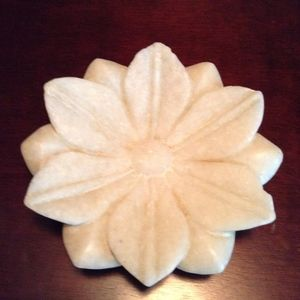 Other - Beautiful Marble Lotus Shape Bowl/Plate